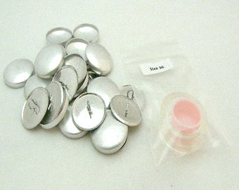 "100 Aluminum Wire Loop Self Cover Buttons Size 36 (7/8"")"