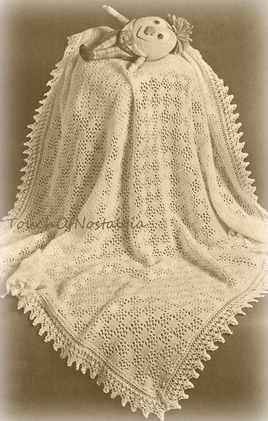 Lacy Baby Shawl Knitting Pattern Beautiful Eyelet Lace Baby