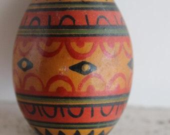 Vintage Wooden Egg