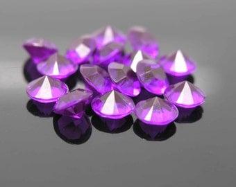 2,000pcs 10mm Acrylic Purple Beads Confetti Wedding Reception Table Scatter Decoration