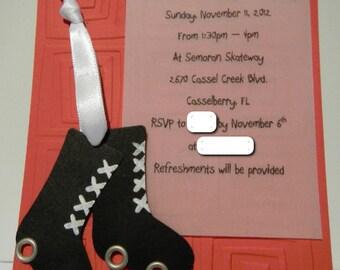 Roller Skate/Skate Birthday Party Invitation