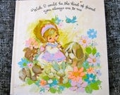 Vintage American Greetings and The Sunbeam Library - Adorable Book and Drawings
