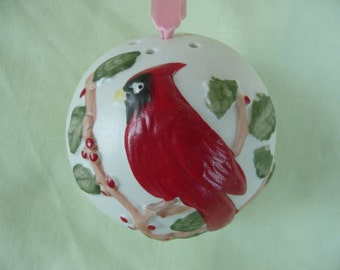 Red Cardinal Christmas Ornament Scented