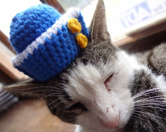 Cat Hat, Cat Costume, Hats for Cats, Sailor Hat for Cats, Sailor Cat Hat, Sailor Cap for cats, Sailor Cat Costume, Costumes for Cats