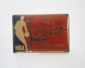 Vintage PIN NBA  Coca Cola