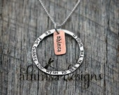 Earth Day: Be The Change Unisex Necklace Pure Silver Copper Mixed Metal Earth Friendly Eco Conscious Ahimsa