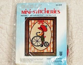 CREWEL EMBROIDERY KIT 7 x 9 Bucilla 2019 Boy With Bicycle 3-oz