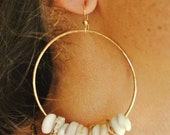 Gold Filled Puka Shell Hoops
