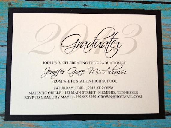 Items similar to Elegant 2013 Graduation Invitations on Etsy