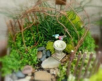 Twig arbor for your miniature garden