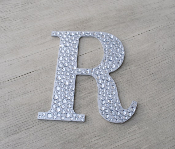 Silver Letters Wall Decor : Sparkle silver bling decorative wall letters by