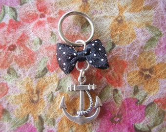 Anchor with a Bow Pendant