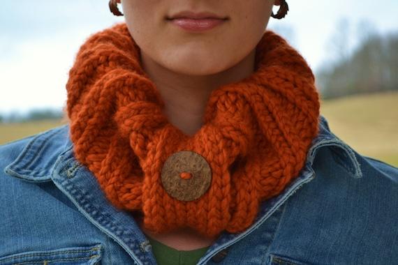 Burnt Orange Cowl, Neck-warmer - Winter/Fall Fashion