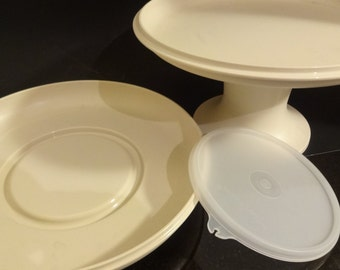 Vintage Tupperware - Serve-It-All - 4 Piece Set - Instruction Sheet - Appetizer Tray