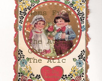 Vintage Valentine From 1919. Original Not a Repro.