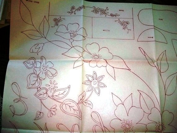 Vintage 50s Mail Order Embroidery Transfer Floral and Alphabet Pattern Pillow Cases Towels