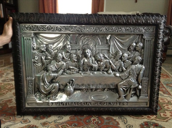 La Ultima Ciea De Jesus The Last Supper By Vintageloveantiques