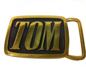 Vintage TOM Name Belt Buckle