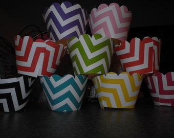 Chevron Cupcake Wrappers. Set of 12