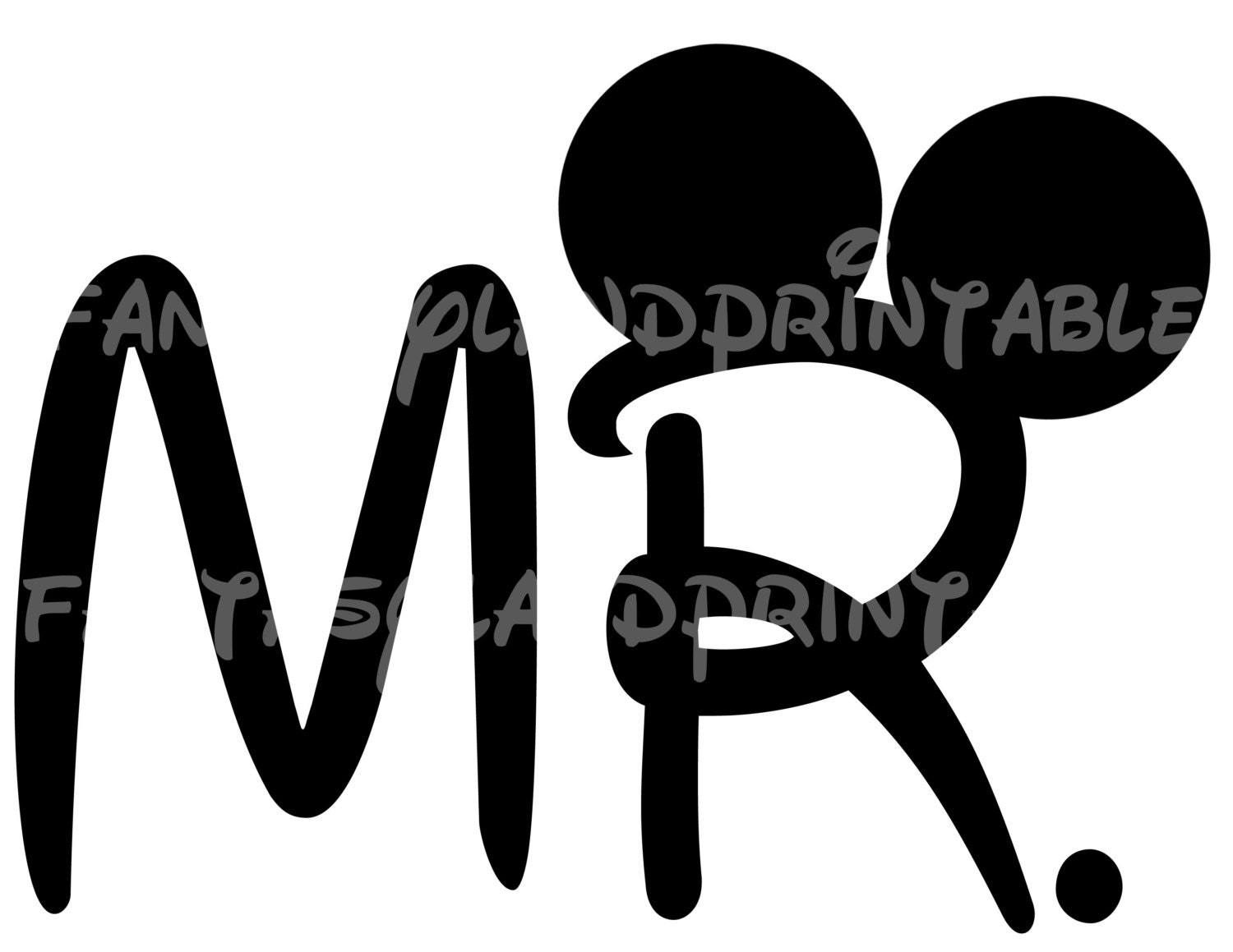 Mickey Mouse Ears Silhouette Vector Mr mickey mouse diy you print