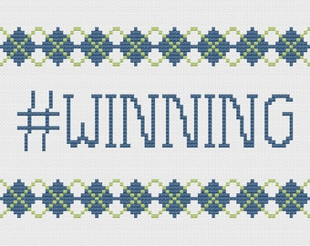 Cross Stitch Pattern - winning