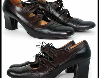 1960s Shoes Designer Leather Pumps Stilluetos Pinup Bombshell Dress Garden Party Rockabilly Mad Men Womens