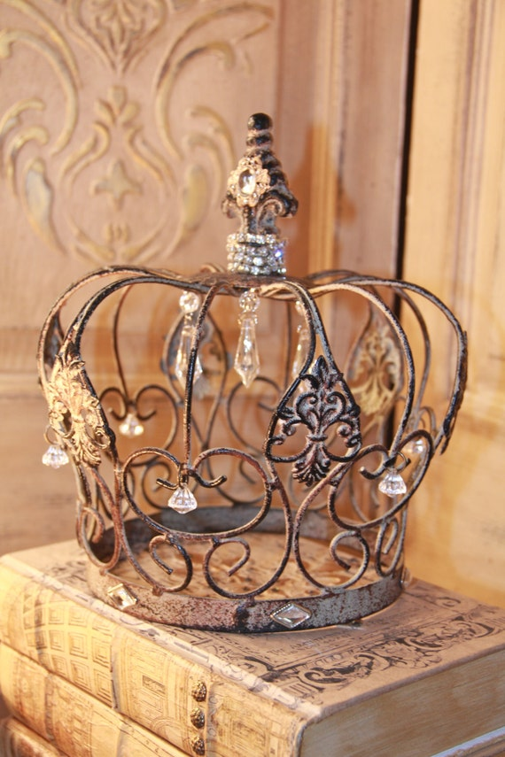 Embellished Metal Crown Rusty Crown Crown Decor French