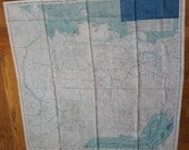 Vintage USSR and Siberia Silk Escape and Evasion Map - 1950