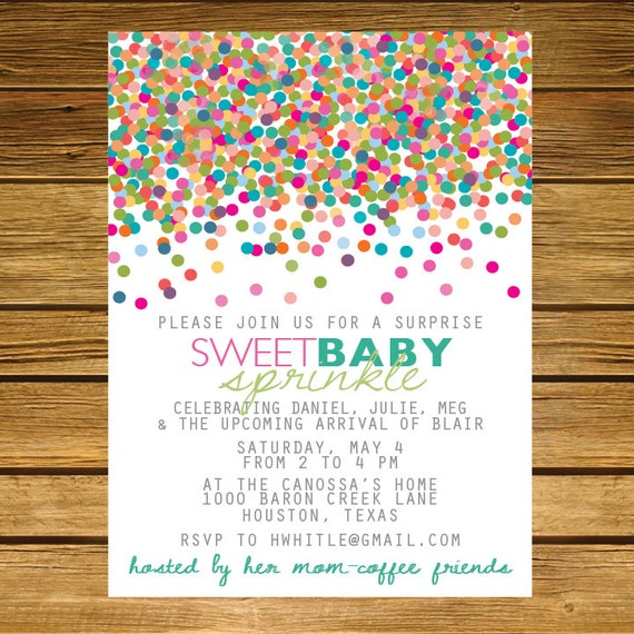 Surprise Baby Shower Invitation Wording was adorable invitation layout