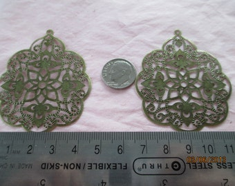 4 India Style Filigree ,  Metal for Jewelry Making Listing B14285