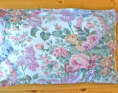 Cabbage Rose Pillowcase - Vintage Shabby Chic Bedding