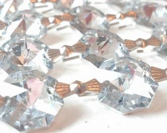 1 Yard Silver Chandelier Crystal Prism Shabby Chic Wedding Decor Garland