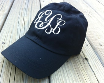 Monogrammed ball cap hat!