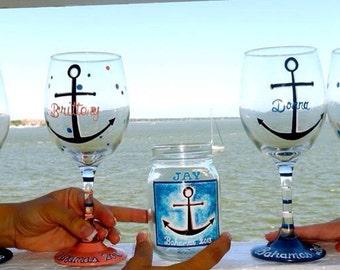Vacation wine glasses