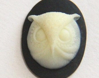 6 pcs of resin owl cameo-18x25mm-rc0172-2