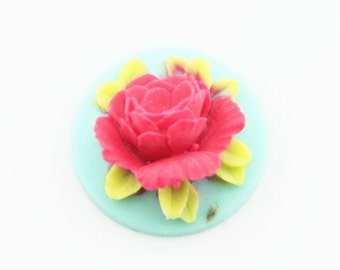 12 Pcs of Resin flower cabochon 18mm-RC0135-34