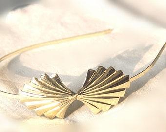 6pcs Brass Filigree bow headband  filigree 2007-18k gold