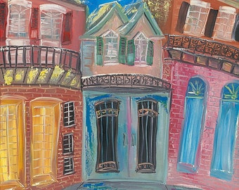 PRINT - New Orleans, French Quarter Painting, POSTER PRINT of the Sold Original