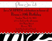 Fun Birthday  Invite. 5x7 printable design