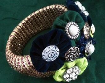 Dutch Wax Collage Bracelet