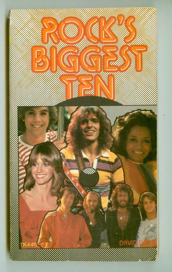 Vintage 1979 Rock's Biggest 10 Pop Star Biographies Retro Scholastic Paperback