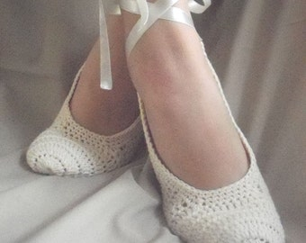 Wedding, Bridal wedding dance shoes slippers Cream ivory  Bridal Party Bridesmaid