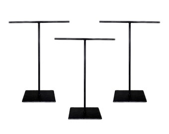 3 Standard Steel Necklace T-Stand Set - Set of Three - Jewelry Holder - Metal Display