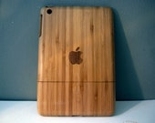 Ipad Mini case - wooden cases walnut or bamboo wood - apple