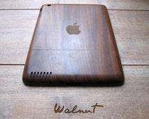 Ipad Air case (first and second generation) - wooden cases walnut or bamboo wood - apple