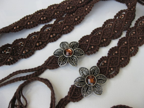 macrame belts eco friendly brown beaded macrame belt woven belt eco 275