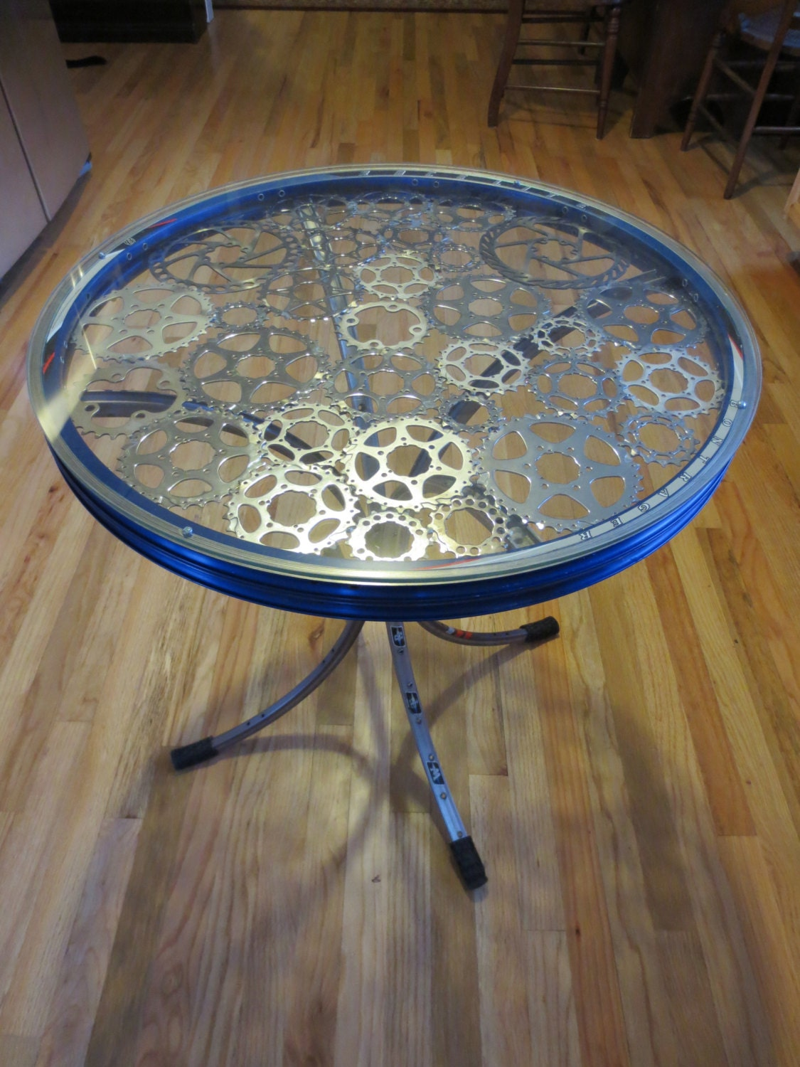 Recycled Bike Part End Table E