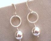 Silver Earrings, Silver Bridal Earrings, Wedding Jewelry, Bridesmaids Gifts, Heirloom Jewelry - Newbury Silver Bridal Earrings
