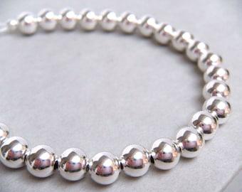 Silver Bracelet, Bridal Bracelet, Sterling Silver Bracelet, Pearl Bracelet, Wedding Jewelry, Bridesmaids Gifts, Heirloom Jewelry - Newbury