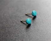 Turquoise stud Earrings, Small Studs, tiny studs, post earrings, tiny turquoise studs